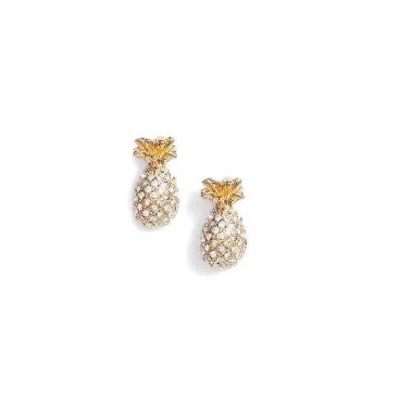 kate spade Jewelry - Kate Spade By The Pool Pineapple Earrings